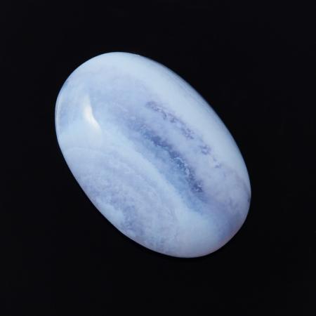 Кабошон агат голубой  12*18 мм