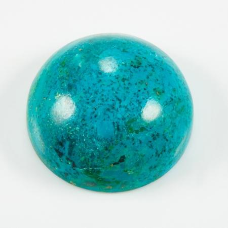 Кабошон хризоколла  15 мм
