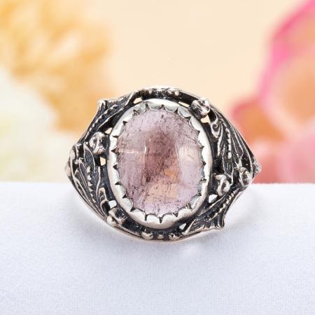 Кольцо турмалин розовый (рубеллит)  (серебро 925 пр.)  размер 17,5Турмалин<br>Кольцо турмалин розовый (рубеллит)  (серебро 925 пр.)  размер 17,5<br><br>kit: None