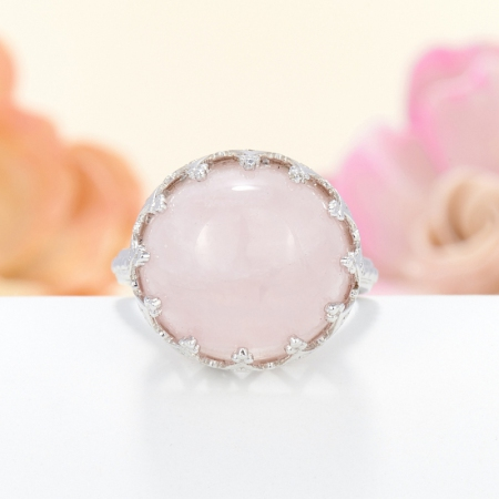 Кольцо розовый кварц  (серебро 925 пр.) размер 17,5Розовый кварц<br>Кольцо розовый кварц  (серебро 925 пр.) размер 17,5<br><br>kit: None