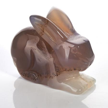 Кролик агат серый  5 см