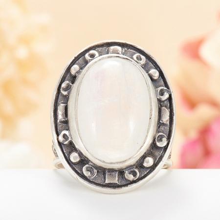 Кольцо лунный камень  (серебро 925 пр.) размер 17,5Лунный камень<br>Кольцо лунный камень  (серебро 925 пр.) размер 17,5<br><br>kit: None
