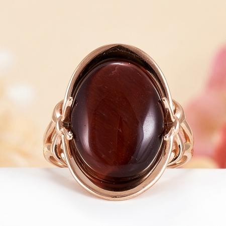Кольцо бычий глаз  (серебро 925 пр., позолота) размер 17,5