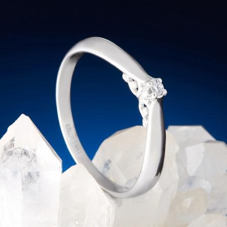 Кольцо бриллиант  огранка (серебро 925 пр.) размер 16,5