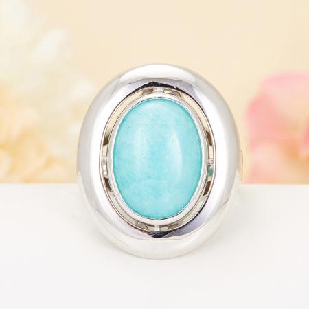 Кольцо амазонит  (серебро 925 пр.) размер 19
