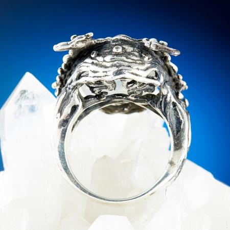 Кольцо лунный камень  (серебро 925 пр., позолота) размер 17,5