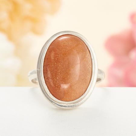 Кольцо солнечный камень  (серебро 925 пр.) размер 17,5Солнечный камень<br>Кольцо солнечный камень  (серебро 925 пр.) размер 17,5<br><br>kit: None