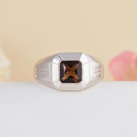 Кольцо раухтопаз  огранка (серебро 925 пр.) размер 21