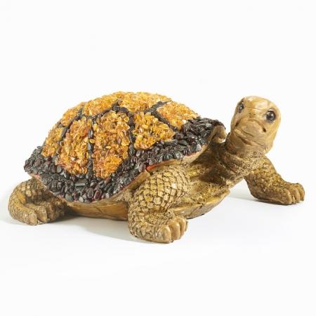 Черепаха янтарь  25х17х10 см