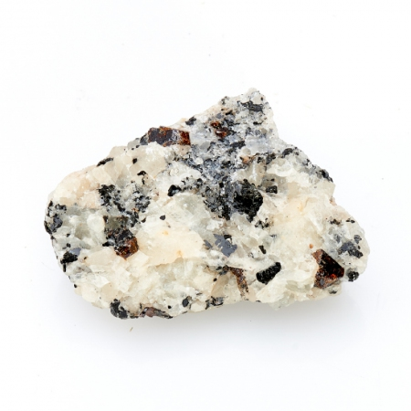 Кристалл в породе пирохлор с биотитом в кальците  S