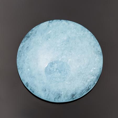 Кабошон аквамарин голубой с иризацией  5,6х19 мм