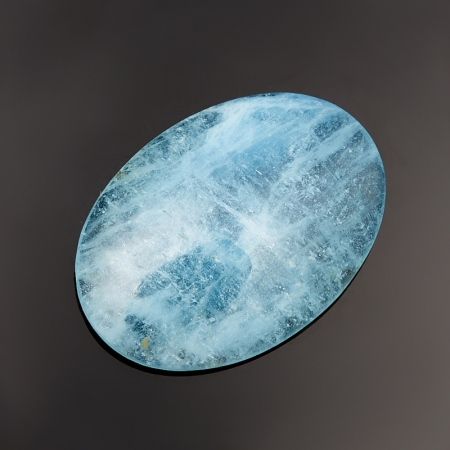 Кабошон аквамарин голубой  4,5х17,5х24,5 мм