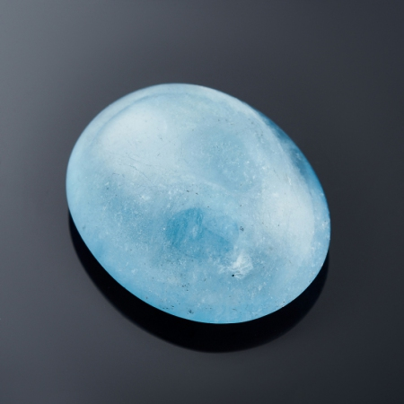 Кабошон аквамарин голубой с иризацией  11,6х23х28 мм