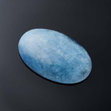 Кабошон аквамарин голубой с иризацией  4,4х17,8х27 мм