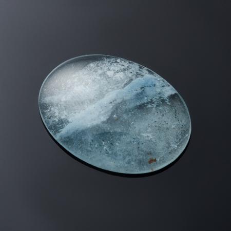 Кабошон аквамарин с иризацией  4х17х22 мм