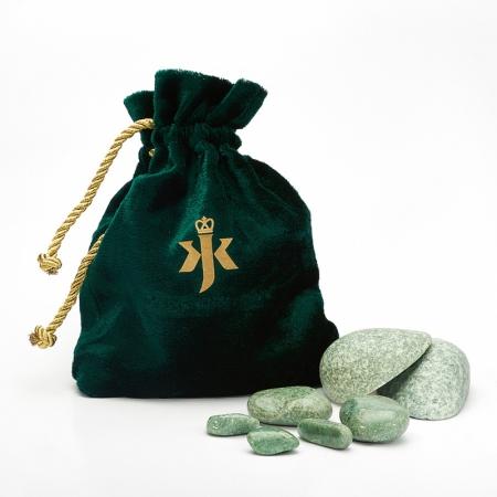 Набор для стоунтерапии жадеит  16 камней