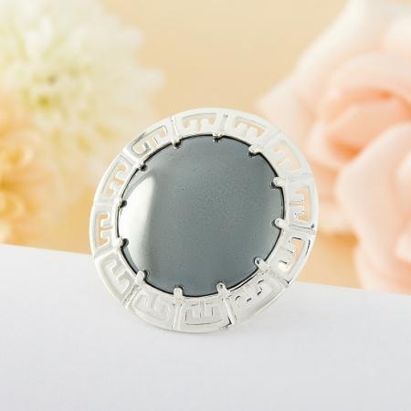 Кольцо гематит  (серебро 925 пр.) размер 17