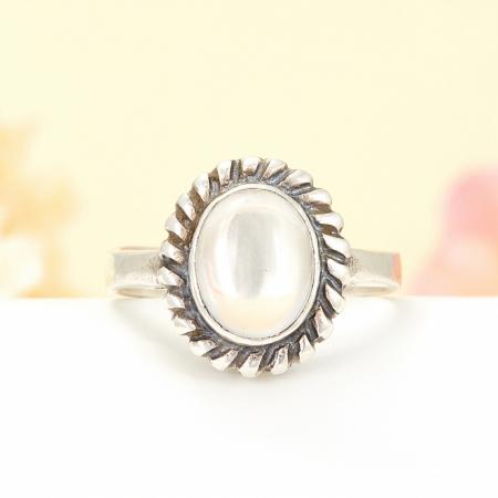 Кольцо горный хрусталь  (серебро 925 пр.) размер 18,5