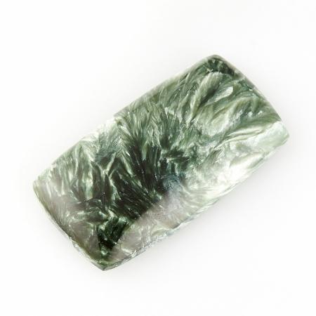 Кабошон клинохлор (серафинит)  17*32 мм