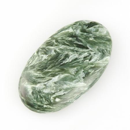 Кабошон клинохлор (серафинит)  20*35 мм