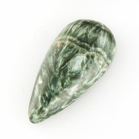 Кабошон клинохлор (серафинит)  15*32 мм