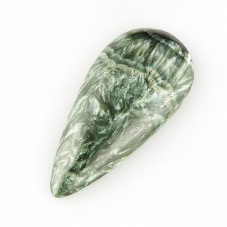 Кабошон клинохлор (серафинит)  17*37 мм
