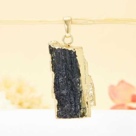 Кулон кристалл турмалин черный