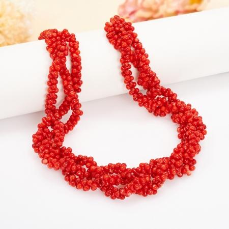 Бусы длинные коралл красный  68 см от Mineralmarket