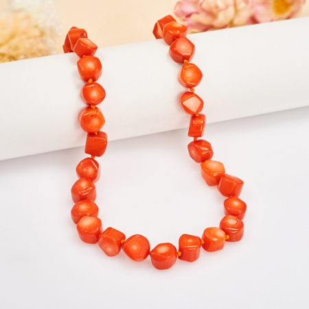 Бусы коралл оранжевый  50 смКоралл<br>Бусы коралл оранжевый  50 см<br><br>kit: None
