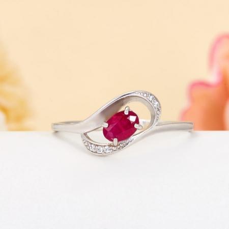 Кольцо рубин  огранка (серебро 925 пр.) размер 19,5Рубин<br>Кольцо рубин  огранка (серебро 925 пр.) размер 19,5<br><br>kit: None