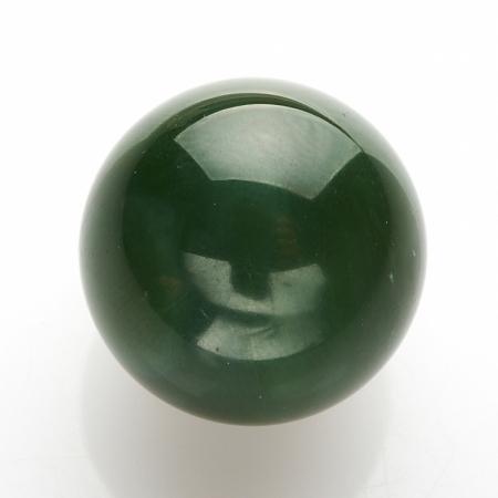 Шар нефрит зеленый  20 мм