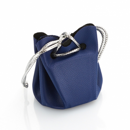 Подарочная упаковка универсальная (мешочек объемный синий) 35х35х40 мм от Mineralmarket