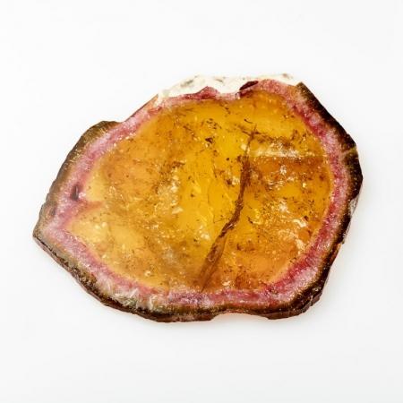 Кабошон турмалин полихромный  (срез) 55*63 мм