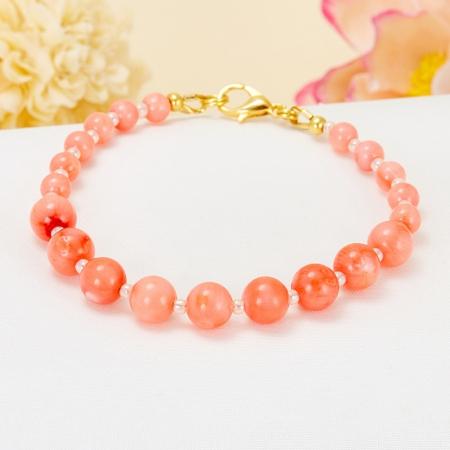 Браслет коралл розовый  17 cмКоралл<br>Браслет коралл розовый  17 cм<br><br>kit: None