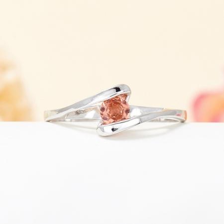 Кольцо турмалин розовый  огранка (серебро 925 пр.) размер 17,5