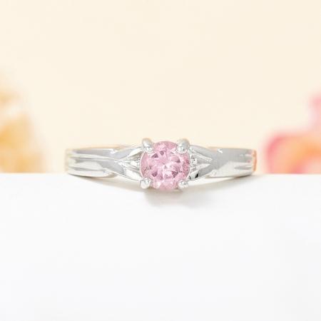 Кольцо турмалин розовый  огранка (серебро 925 пр.) размер 16