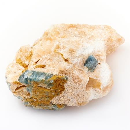 Кристалл в породе апатит синий  M
