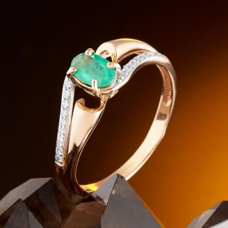 Кольцо изумруд  огранка (золото 585 пр.) размер 16,5Изумруд<br>Кольцо изумруд  огранка (золото 585 пр.) размер 16,5<br><br>kit: None