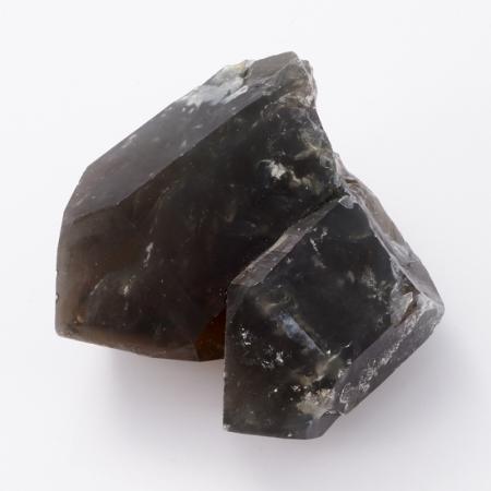 Кристалл раухтопаз с тремолит-асбестом  (сросток) S