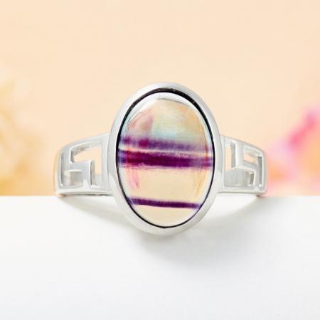 Кольцо флюорит (серебро 925 пр.) размер 20