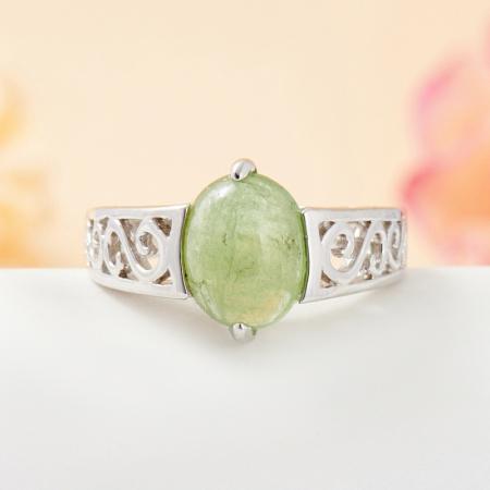 Кольцо турмалин зеленый  (серебро 925 пр.) размер 17Турмалин<br>Кольцо турмалин зеленый  (серебро 925 пр.) размер 17<br><br>kit: None
