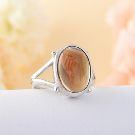 Кольцо раухтопаз  (серебро 925 пр.) размер 17