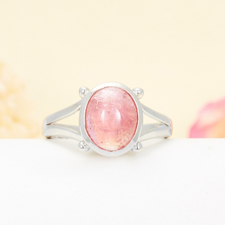 Кольцо турмалин розовый  (серебро 925 пр.) размер 19Турмалин<br>Кольцо турмалин розовый  (серебро 925 пр.) размер 19<br><br>kit: None