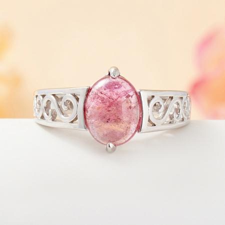 Кольцо турмалин розовый  (серебро 925 пр.) размер 18Турмалин<br>Кольцо турмалин розовый  (серебро 925 пр.) размер 18<br><br>kit: None