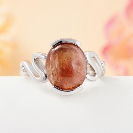 Кольцо турмалин коричневый  (серебро 925 пр.) размер 16,5Турмалин<br>Кольцо турмалин коричневый  (серебро 925 пр.) размер 16,5<br><br>kit: None