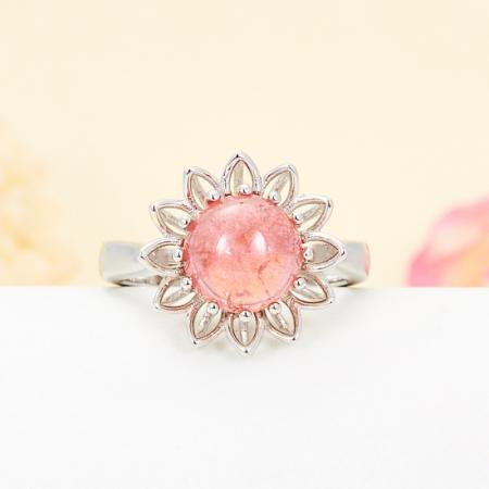 Кольцо турмалин розовый  (серебро 925 пр.) размер 17,5Турмалин<br>Кольцо турмалин розовый  (серебро 925 пр.) размер 17,5<br><br>kit: None