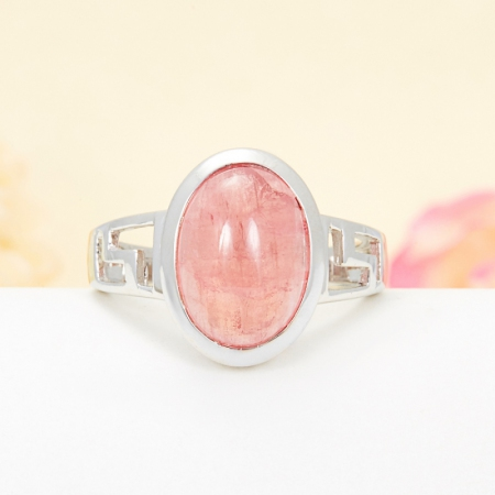 Кольцо турмалин розовый  (серебро 925 пр.) размер 19