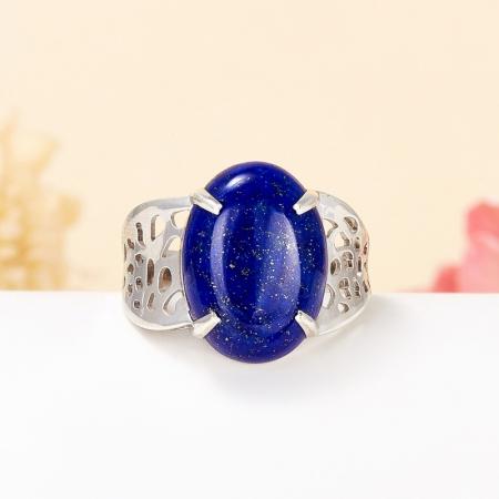 Кольцо лазурит  (серебро 925 пр.) размер 19,5