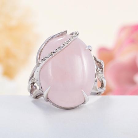 Кольцо розовый кварц  (серебро 925 пр.) размер 18,5Розовый кварц<br>Кольцо розовый кварц  (серебро 925 пр.) размер 18,5<br><br>kit: None