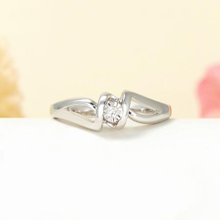 Кольцо бриллиант  огранка (серебро 925 пр.) размер 15,5